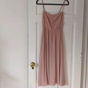 "Reformation Blush ""Rosehip"" Midi Dress"